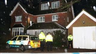House sealed off by police