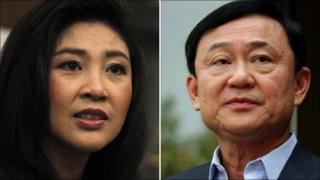 Yingluck Shinawatra and brother Thaksin Shinawatra