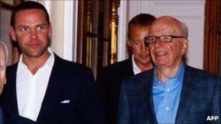 James Murdoch (left), with his father Rupert Murdoch, chairman of News Corporation