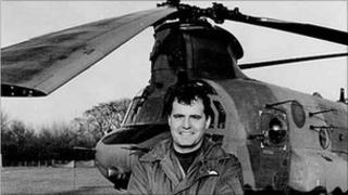 Flight Lieutenant Rick Cook died in the Chinook helicopter crash in 1994