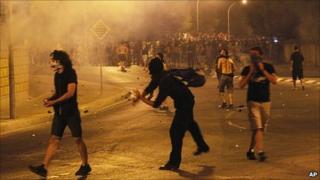 Protest in Nicosia. 12 July 2011