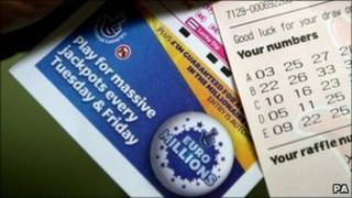 Euromillions entry slip and ticket