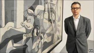 Christoph Grunenberg with Picasso's The Charnel House