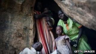 People take shelter in caves in South Kordofan in June