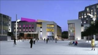 The arts complex in Guildhall Square