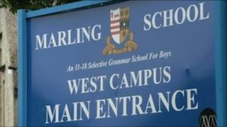 Marling School sign