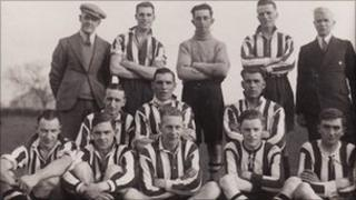 Spilsby Town FC team from 1932