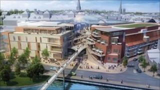 Artist's impression of the new shopping centre