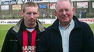 Graham Heslip with his father Billy
