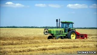 Tractor in North Dakota