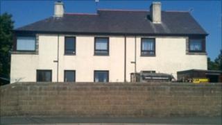 The building in Chwilog, Gwynedd where the bodies were found