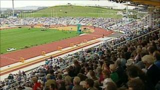 The opening of the World Student Games at the Don Valley Stadium