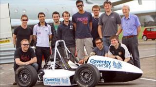 Phoenix Racing team with their car