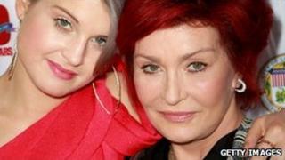 Kelly and Sharon Osbourne