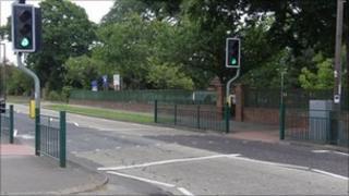 Crossing outside Fairways Primary School in Leigh-on-Sea