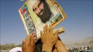 Pro-Taliban supporters rally in support of Bin Laden in Quetta, Pakistan, 1 October 2001