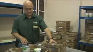 Food bank worker