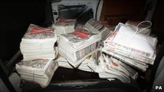 Newspaper bundles