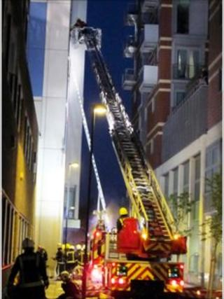 Lambeth Fire. Courtesy Nigel Saunders/FR Pix.