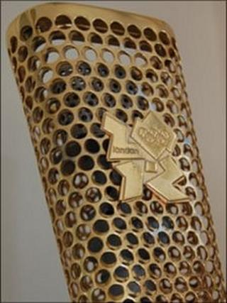 Prototype of the Olympic torch