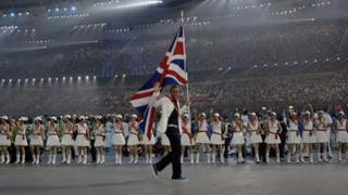 Opening ceremony at the 2008 Olympics