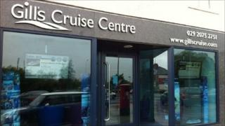 Gill's Cruise Centre's premises in Cardiff