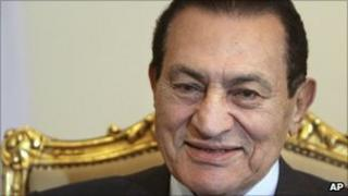Hosni Mubarak in Cairo, 19 October