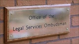 Sign saying the office of the legal services ombudsman