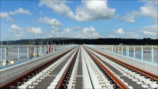 Repaired Arnside viaduct