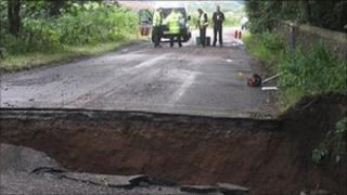 Great Corby flood damage