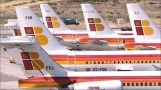 Planes with Iberia livery