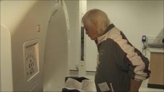 Jimmy Savile and a radiology machine