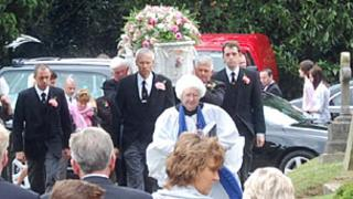 Funeral of Becky Godden-Edwards, Swindon, Wiltshire