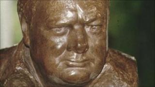Bust of Winston Churchill