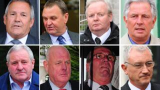 Eight former police officers who deny conspiracy to pervert the course of justice