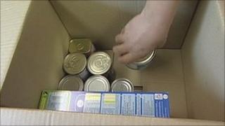 Box of food