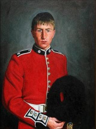 The portrait of Act Sgt John Amer