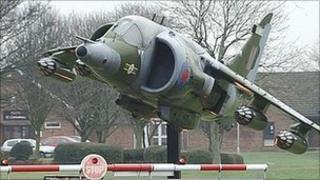 Gate guardian at RAF Cottesmore