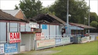 Taunton Town FC fire on 19 July