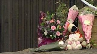 Tributes left at the house at the time of Jasmine Bellfield's death