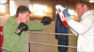 Zak Hammond in the Donnington gym