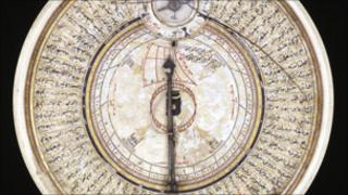 Ivory sundial and Qibla pointer, made by Bayram B Ilyas, Turkey, 1582-3. Courtesy of The Trustees of the British Museum