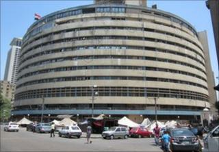 Egyptian state TV building