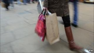 Shopper on London's Oxford Street