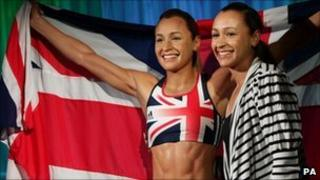 """Athlete Jessica Ennis met her """"lifelike"""" waxwork at an unveiling at Madame Tussauds in London"""