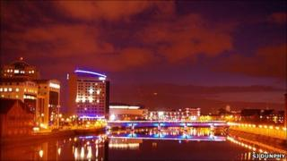 Night over River Lagan, Belfast