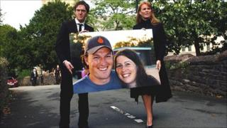 Ben Mullany's brother Adam and the duchess walked out of the cathedral with a picture of the couple