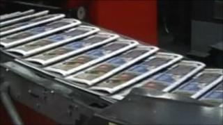 Media Wales newspapers being printed