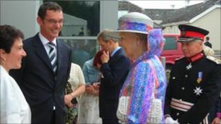 Princess Alexandra at the Robert Jones and Agnes Hunt Hospital near Oswestry