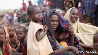Refugees at Dadaab camp